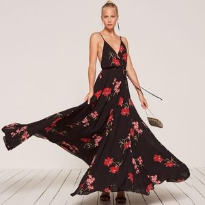 Reformation Callalily Hibiscus Floral Maxi Dress